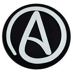 Circle A for Atheist Plastic Auto Emblem - [Silver][3