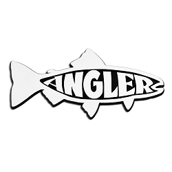 Angler Trout Chrome Auto Emblem -  6