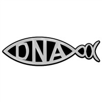 DNA Fish Chrome Auto Emblem - 6.25