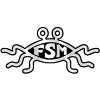 FSM Flying Spaghetti Monster Chrome Auto Emblem - 5.5
