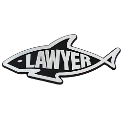 Lawyer Shark Chrome Auto Emblem - 5