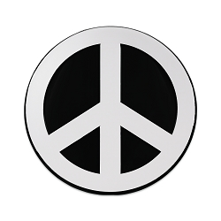 Peace Symbol Chrome Auto Emblem - 4