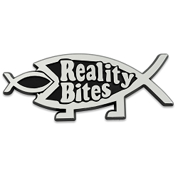 Reality Bites Fish Chrome Auto Emblem - 4.75
