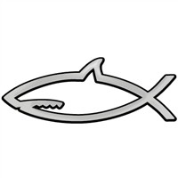 Shark with Closed Mouth Chrome Auto Emblem - 5