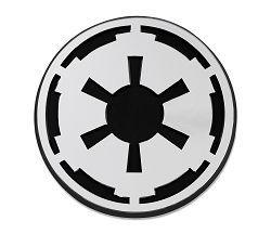 SW Imperial Galactic Empire Logo Plastic Auto Emblem - [Silver][3