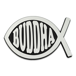 Buddha Fish Chrome Auto Emblem - 5