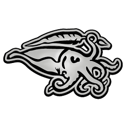 Cuttlefish Chrome Auto Emblem - 5