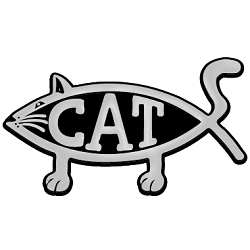 Cat Fish Chrome Auto Emblem - 5.25