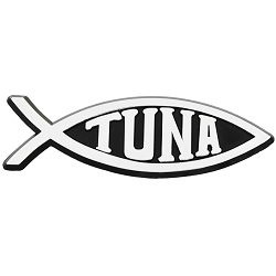 Tuna Fish Chrome Auto Emblem - 5