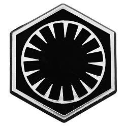 SW First Order Logo Chrome Auto Emblem - 2.75
