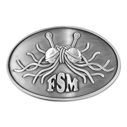 FSM Flying Spaghetti Monster Antique Silver Belt Buckle