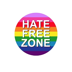 Hate Free Zone Pinback Button - [1.25'' Diameter]