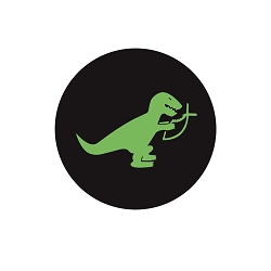 T-Rex Eating Christian Fish Pinback Button - [1.25'' Diameter]