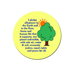I Pledge Allegiance to the Earth Pinback Button - [1.25