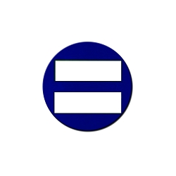 Equality Symbol Pinback Button - [1.25
