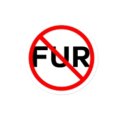 Anti-Fur Pinback Button - [1.25'' Diameter]