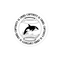Captivity is Cruel Pinback Button - [1.25