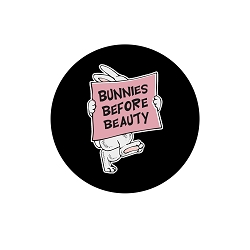 Bunnies Before Beauty Pinback Button - [1.25'' Diameter]