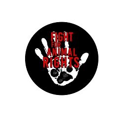 Fight for Animal Rights Pinback Button - [1.25