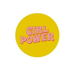 Girl Power Pinback Button - [1.25
