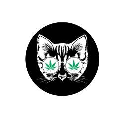 Cannabis Cat Pinback Button - [1.25'' Diameter]