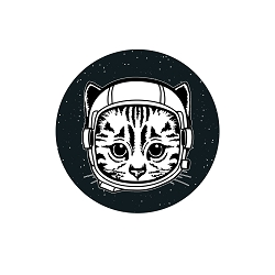 Space Cat Pinback Button - [1.25'' Diameter]