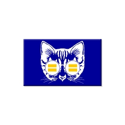 Equality Cat Refrigerator Magnet  - [3'' x 2'']