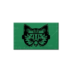 Science Cat Refrigerator Magnet  - [3'' x 2'']