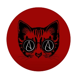 Circle A for Atheist Cat Diameter Bumper Sticker - [5