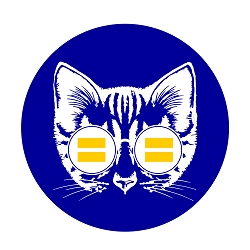 Equality Cat Diameter Bumper Sticker - [5'' Diameter]