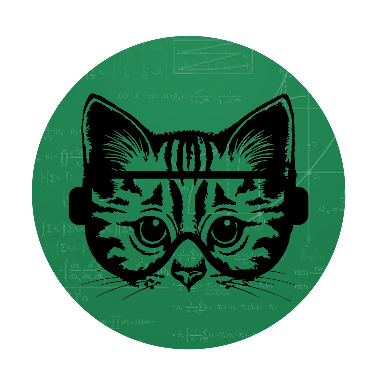 EvolveFISH Circle A for Atheist Cat Bumper Sticker 5 Diameter