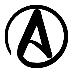 Circle A for Atheist Weatherproof Vinyl Decal