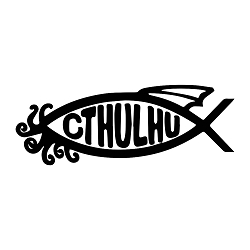 Cthulhu Fish Atheist Weatherproof Vinyl Decal