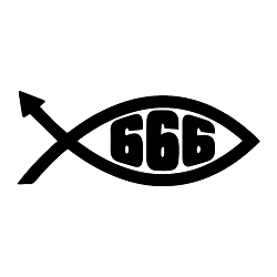 666 Devil Fish Vinyl Decal