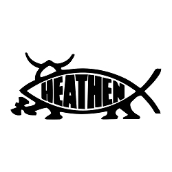Heathen Fish Weatherproof Vinyl Decal