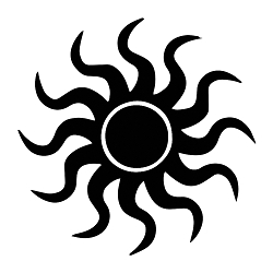 Pagan Sun Silhouette Vinyl Decal