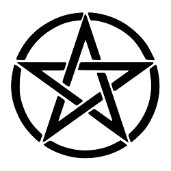 Pentacle Weatherproof Vinyl Decal