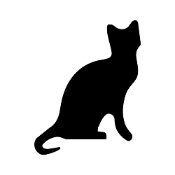 Cat Silhouette Vinyl Decal