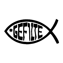 Gefilte Fish Weatherproof Vinyl Decal