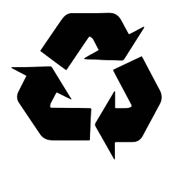 Recycle Symbol Weatherproof Vinyl Decal