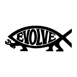 EvolveFish Vinyl Decal