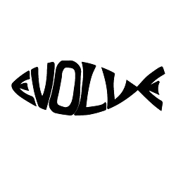 EvolveFish Word Silhouette Weatherproof Vinyl Decal
