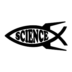 Rocket Science Fish Weatherproof Vinyl Decal