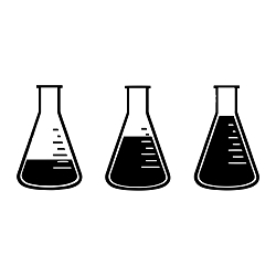 Science Beakers Weatherproof Vinyl Decal