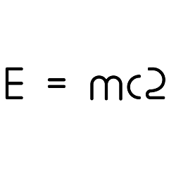 E=MC2 Weatherproof Vinyl Decal