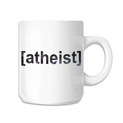 Atheist Brackets Coffee Mug - [White][11 oz.]