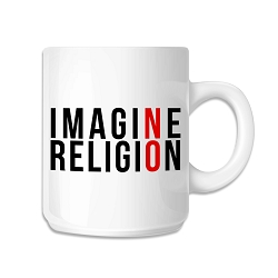 Imagine No Religion Coffee Mug - [White][11 oz.]
