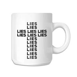 Lies Cross Coffee Mug - [White][11 oz.]