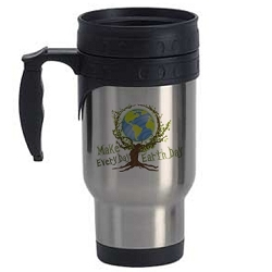 Make Every Day Earth Day Travel Mug - [Silver][12 oz.]