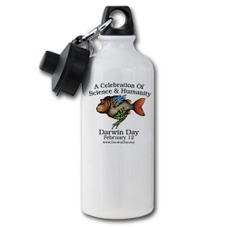 Darwin Day Aluminum Water Bottle - [20 oz.]